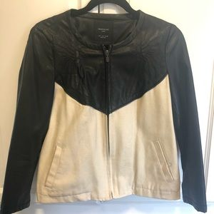 Zara TRF canvas & vegan leather jacket